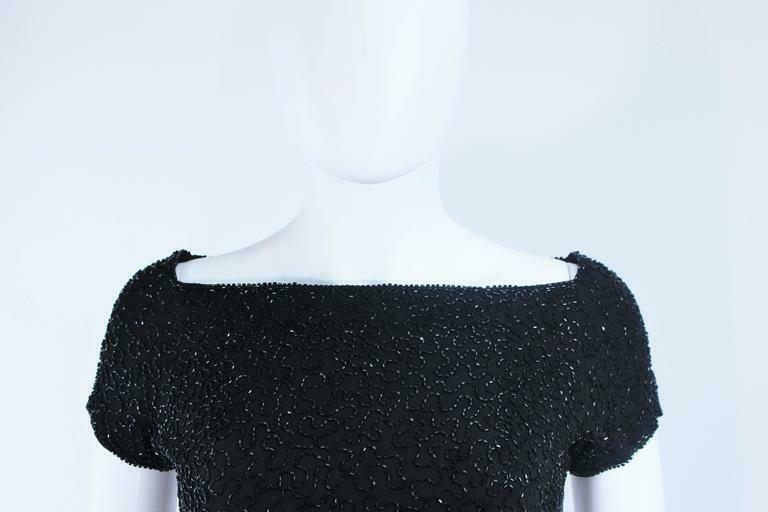 CEIL CHAPMAN Black Beaded Cocktail Dress Size 2 - image 9