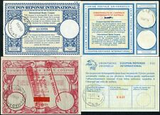PAPUA NEW GUINEA REPLY PAID COUPONS IRC 4 items 1966-76