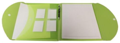 Schreibmappe Konferenzmappe Aktenmappe PP A4 limone transparent mit Schreibblock