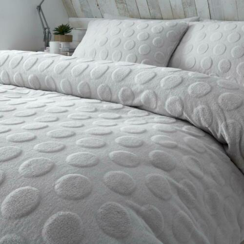 SAONA Teddy Bear Soft Cosy Duvet Cover Warm Quilt Bedding Set Single Double King