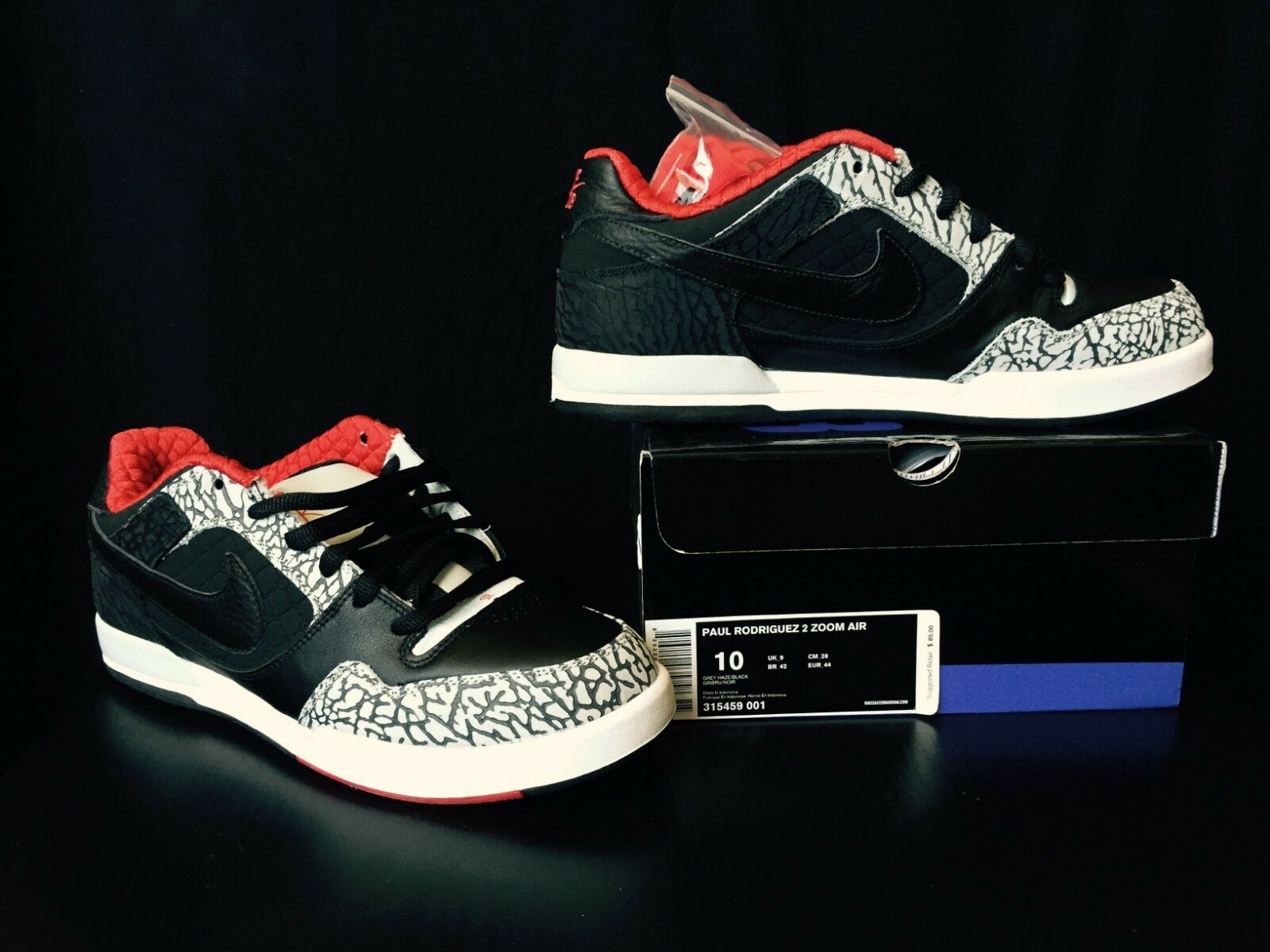 Nike SB Paul Paul Paul Rodriguez 2 Zoom Air PRod Grey Haze Black 2007 NEW IN BOX Size 10 fd95cc