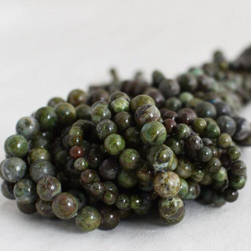 6mm 8mm 10mm Grade A Natural Xinjiang Dinosaur Jasper Gemstone Round Beads