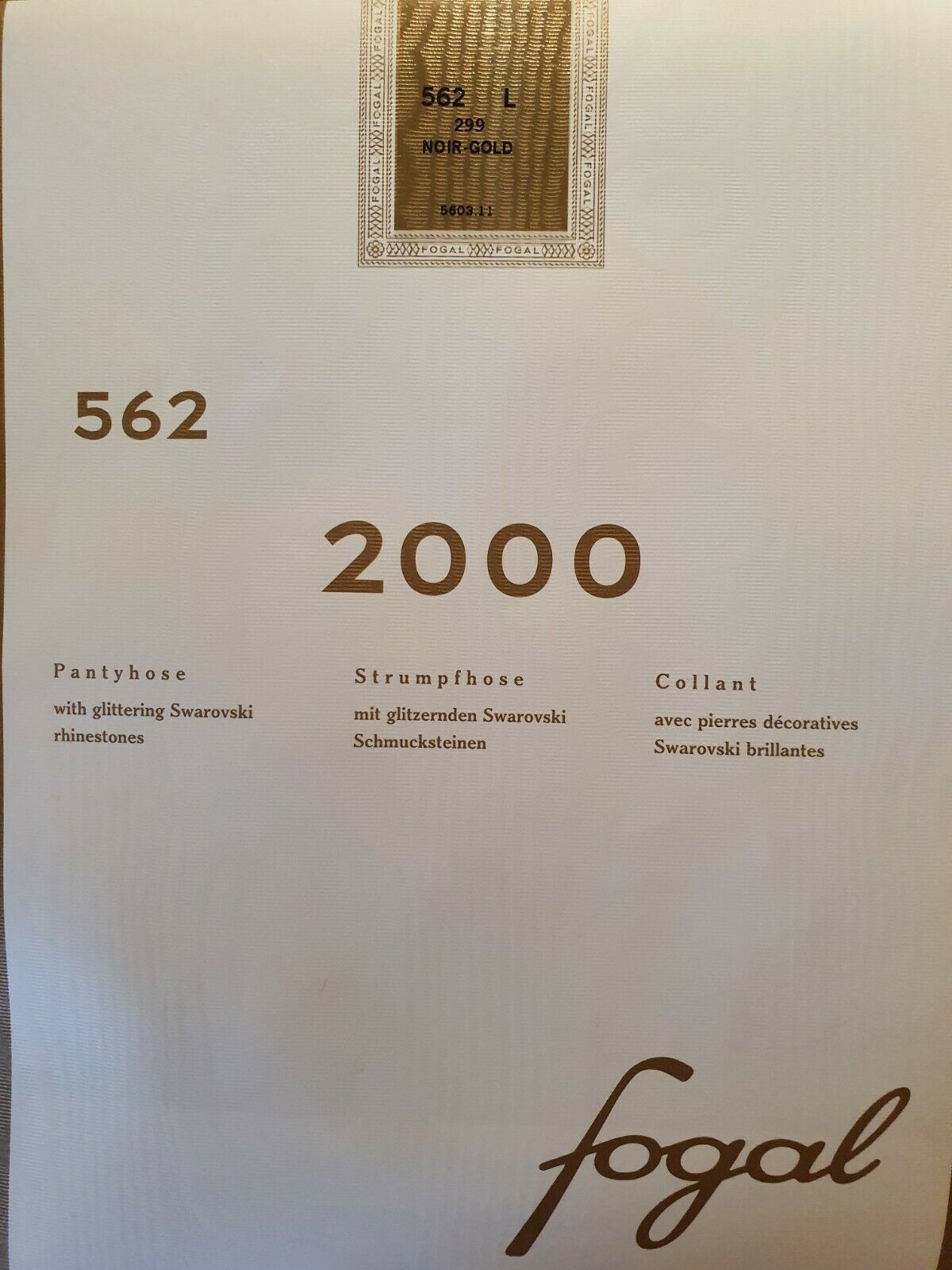 LUXUS PUR: FOGAL Tights mit SWAROVSKI Steinchen