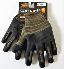 Carhartt Knuckler C Grip Gloves Knitted Withthermoplastic Rubber Palm Army Grn Xl