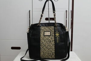 KK-Kardashian-Kollection-Double-Quilted-Tote-Black-Leo-Bag