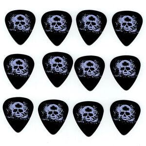 12-Pack-BACKSTAGE-SKULL-DESIGN-Medium-Gauge-351-Guitar-Picks-Plectrum