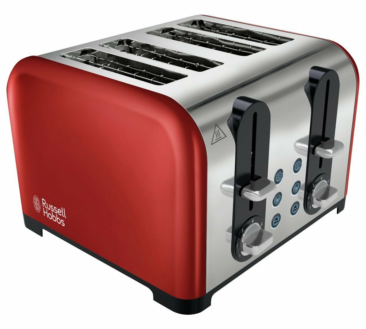 Brand New Russell Hobbs Westminster 4 Slice Toaster - Red Multi Functional