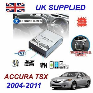 ACURA TSX MP SD USB CD AUX Input Audio Adapter Digital CD - 2004 acura tsx aux input