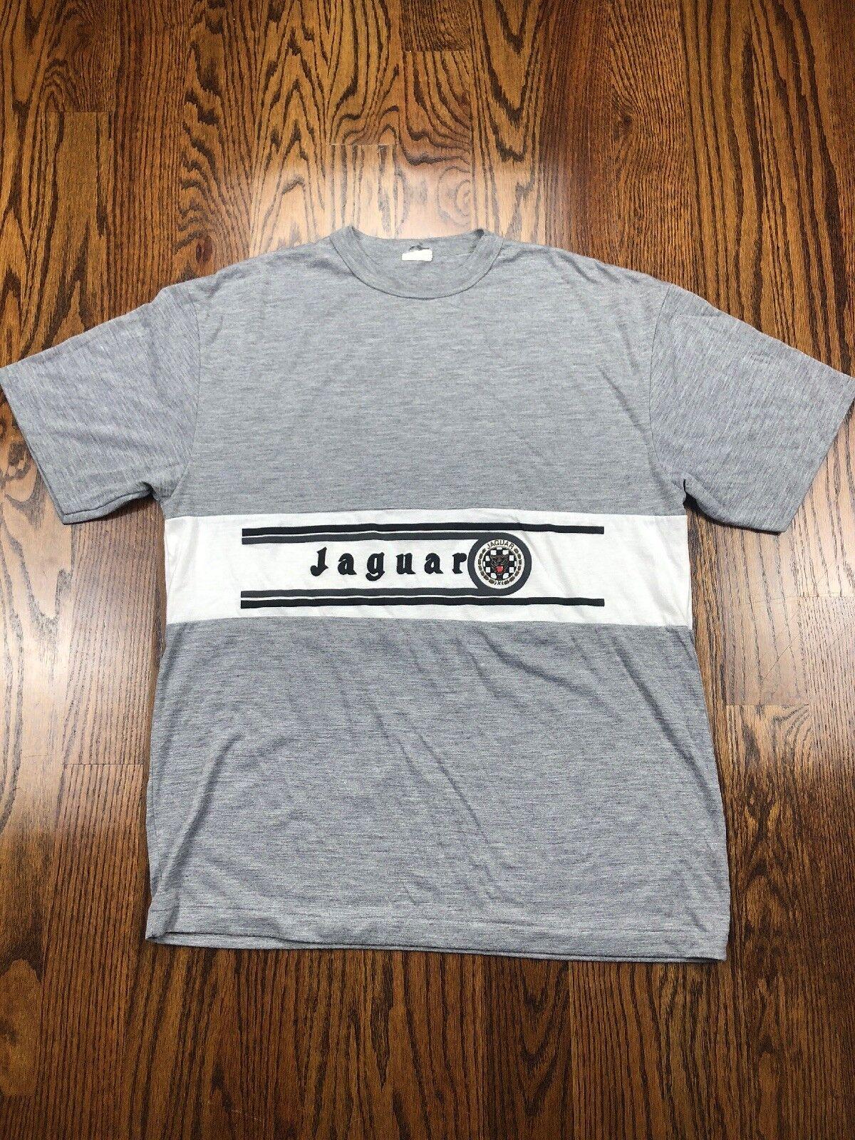Jaguar Shirt Men's LARGE Soft VERY RARE Vintage Racing Cut Sew Single Stitch
