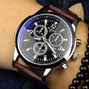 Mode-Herren-Sportuhr-Uhren-Edelstahl-Leder-Quarz-Luxus-Business-Armbanduhren