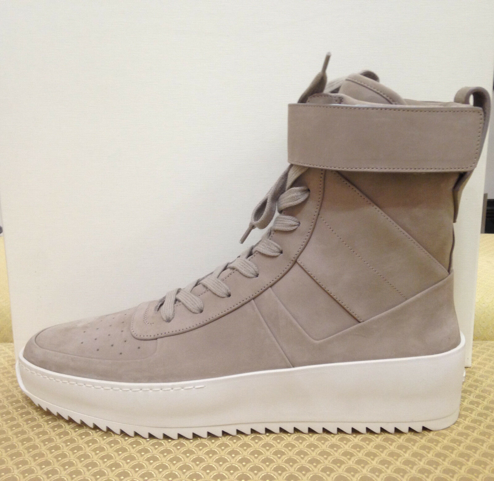 AUTHENTIC FEAR OF GOD MILITARY GREY NUBUCK SNEAKERS YEEZY SUPREME