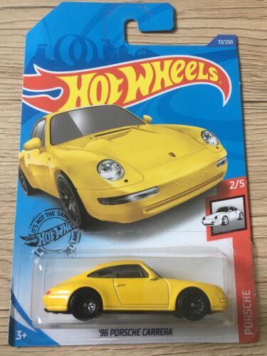 HOT WHEELS 96' Porsche Carrera Jaune Yellow