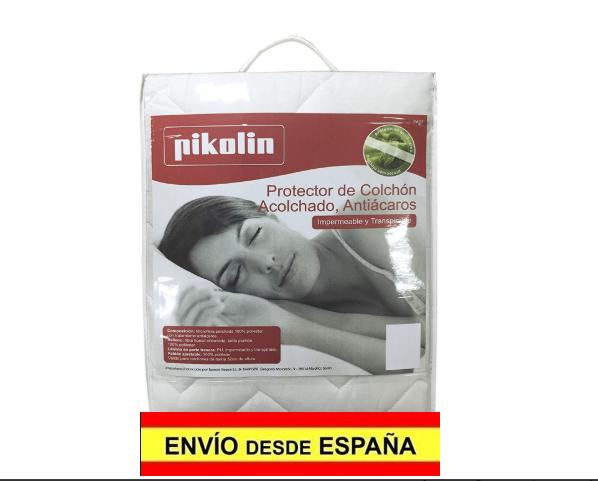 Pikolin Protector colchón acolchado fibra impermeable antiácaros, 90 x 190/200