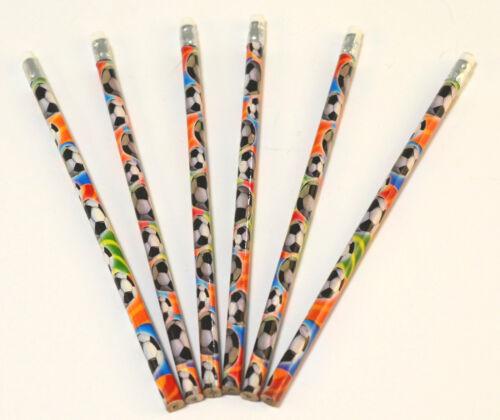 12 x Bleistifte mit bunten Fußbällen bedruckt Mitgebsel Kindergeburtstag