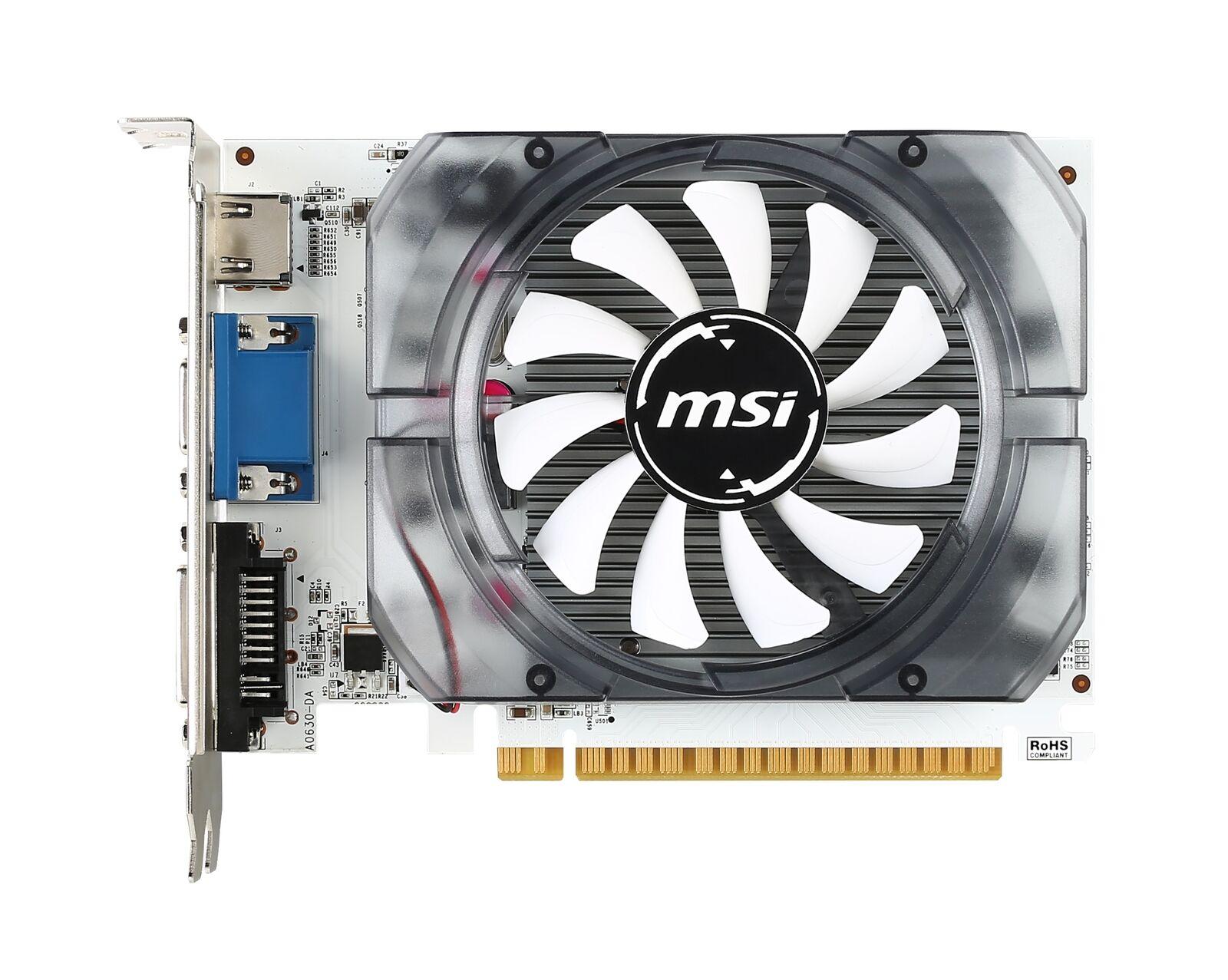 [REFURBISHED] MSI GeForce N730-4GD3V2 Graphics Card, PCI-E 2.0, DVI, HDMI, D-Sub