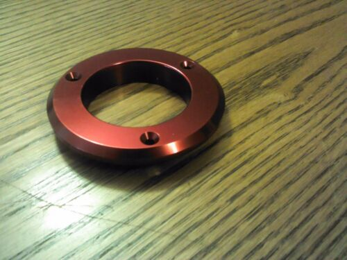 "Red Aluminum Gauge Bezel 3 Hole Hot Rod Speedo  1 7//8/"" ID 3/"" OD"