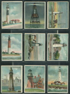 Details about (39069) 1911 T77 Hassan American Tobacco Co  Lighthouse  Series Complete Set 50