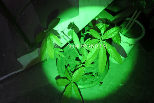 5W Zoomable T6 LED Hydroponics Outdoor Growing Green Light LED Headlamps