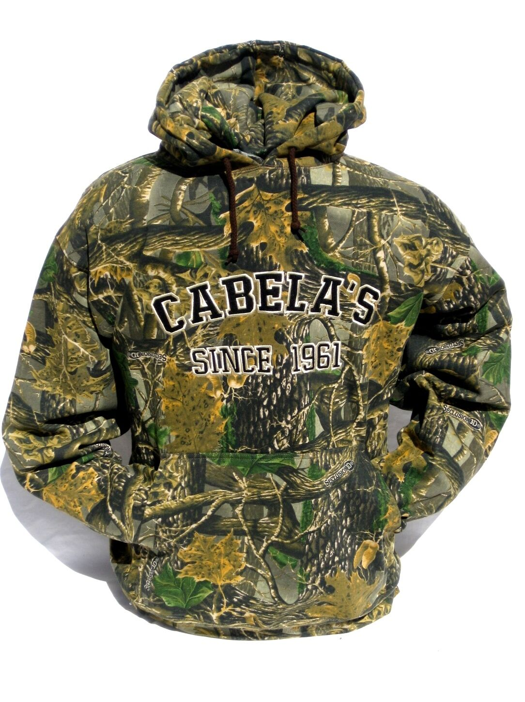 Cabela's Seclusion 3D Athletic  Hunting Hoodie Men's Heavyweight Sweatshirt 2XL  guaranteed