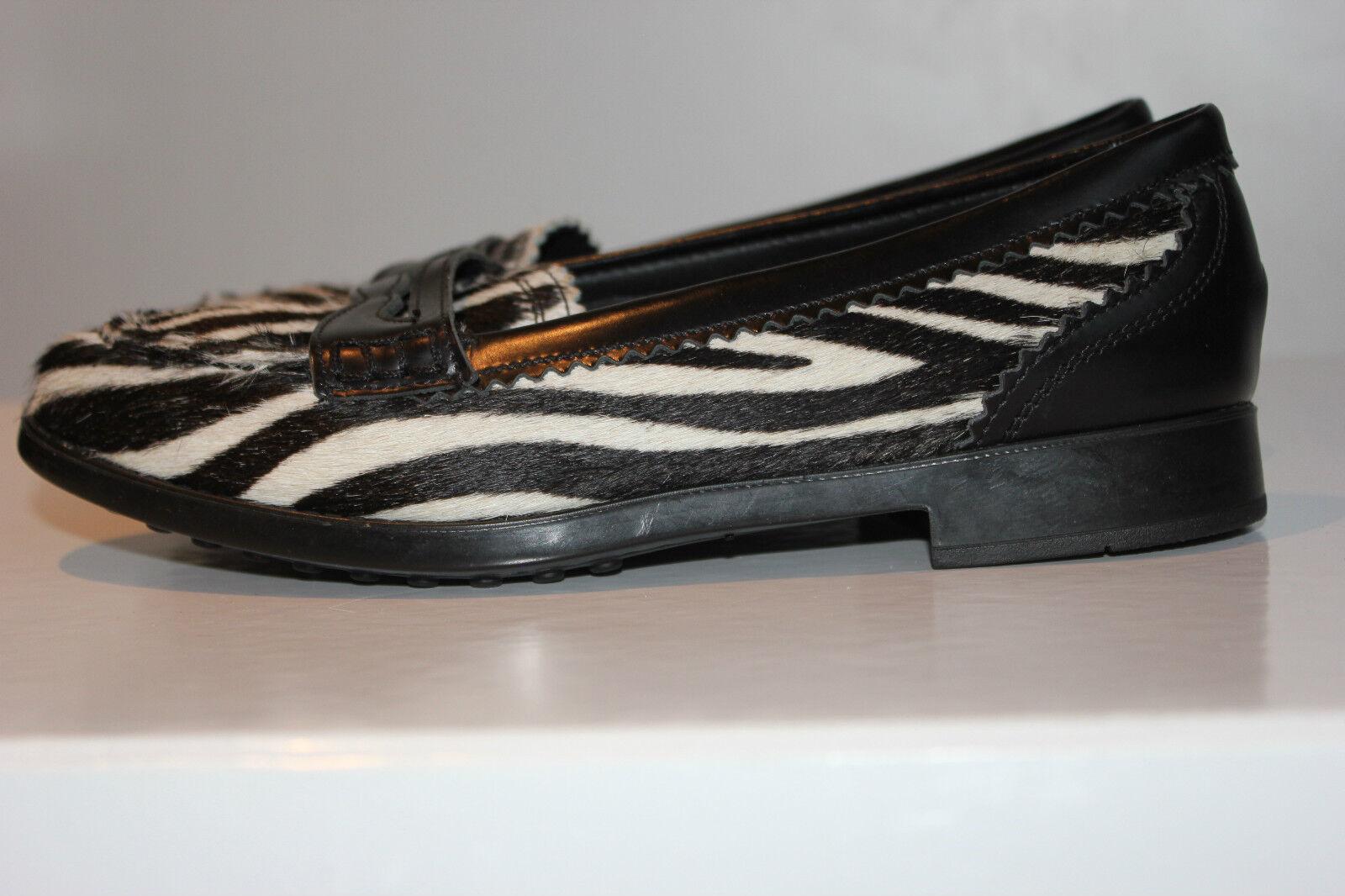 FABIO Echtleder RICCI Superschöner Zebra Pelz Echtleder FABIO Slippers, Gr. 36, Top Zustand 45e88e