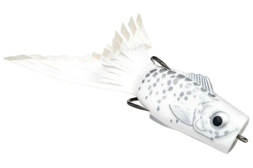 Strike King Topwater Popping Perch Hollow Body PPKVD-84 White Shadow Lure
