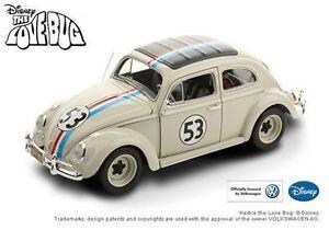 01:18 Hotwheels Elite Disney Vw Coccinelle # 53 Herbie L'insecte amoureux 1962