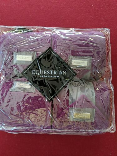 set of 4 Plum Polos Details about  /Equestrian Stockholm new