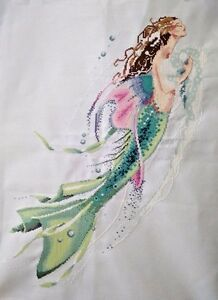 NEW-finished-completed-Cross-stitch-034-Mermaid-034-wall-home-decor-gift-C60
