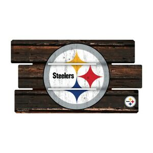 Pittsburgh-Steelers-Defense-Holzschild-XL-63-cm-NFL-Football-Fence-Sign