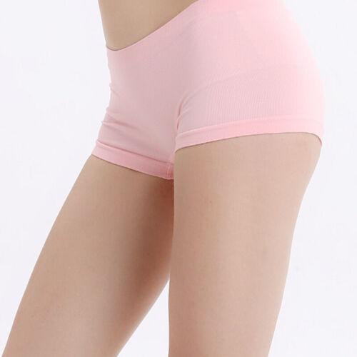 Women Comfy Soft Seamless Boxer Underwear Briefs Panties Underpants Lingeries