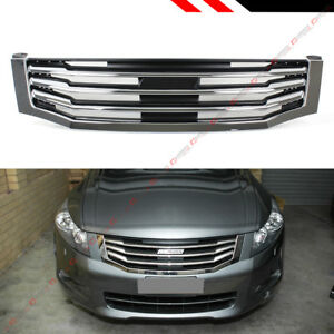 af3f4d9dac For 2008-2010 8th Gen Honda Accord 4dr Sedan Chrome Blk Horizontal ...