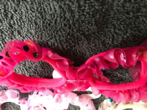 Confezione da 2 colorati per Capelli Ponios Frilly velato fascia in tessuto elastico Polka Bobbles
