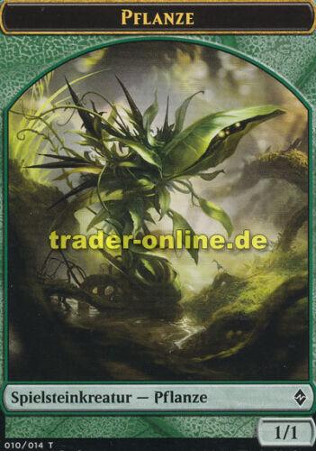 jeton-plant 2x tuile-plante Battle for zendikar Magic