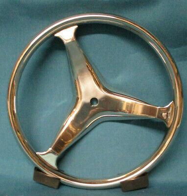 "Schmitt 13.5/"" Euro Sport Style with control knob steering wheel Stainless Steel"