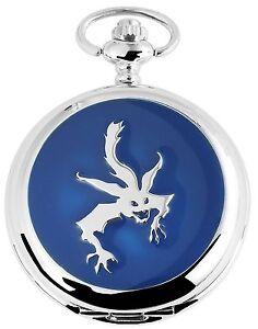 Taschenuhr-Weiss-Silber-Blau-Monster-Analog-Quarz-Herrenuhr-D-480822000019500
