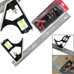 300mm-12-Adjustable-Engineers-Combination-Try-Square-Set-Right-Angle-Ruler