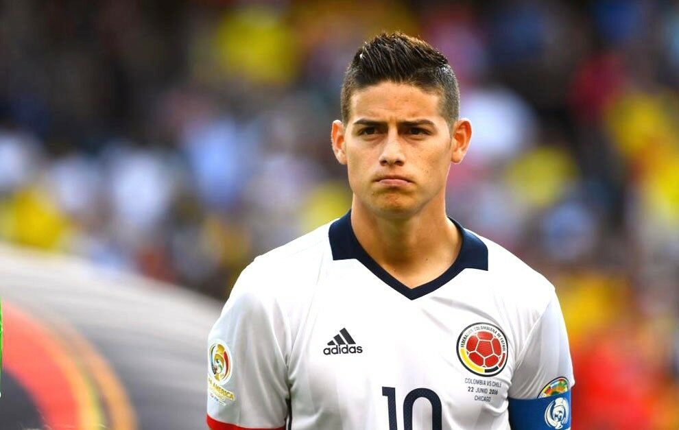 201617 Adidas Colombia JAMES  RODRIGUEZ Home Footbtutti Soccer Jersey AC2837