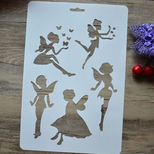 DIY Butterfly Fairy Masking Spray Stencil Layering Stencil Scrapbook Album Decor
