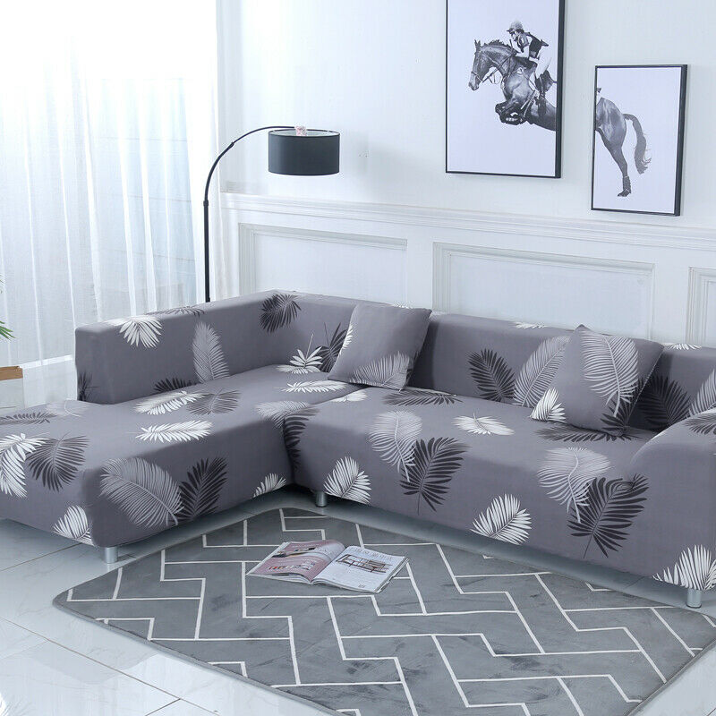 2pcs Stretch Cover for Shape Sectional Corner