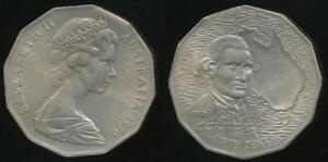 Australia-1970-Fifty-Cents-50c-Elizabeth-II-Captain-Cook-Uncirculated