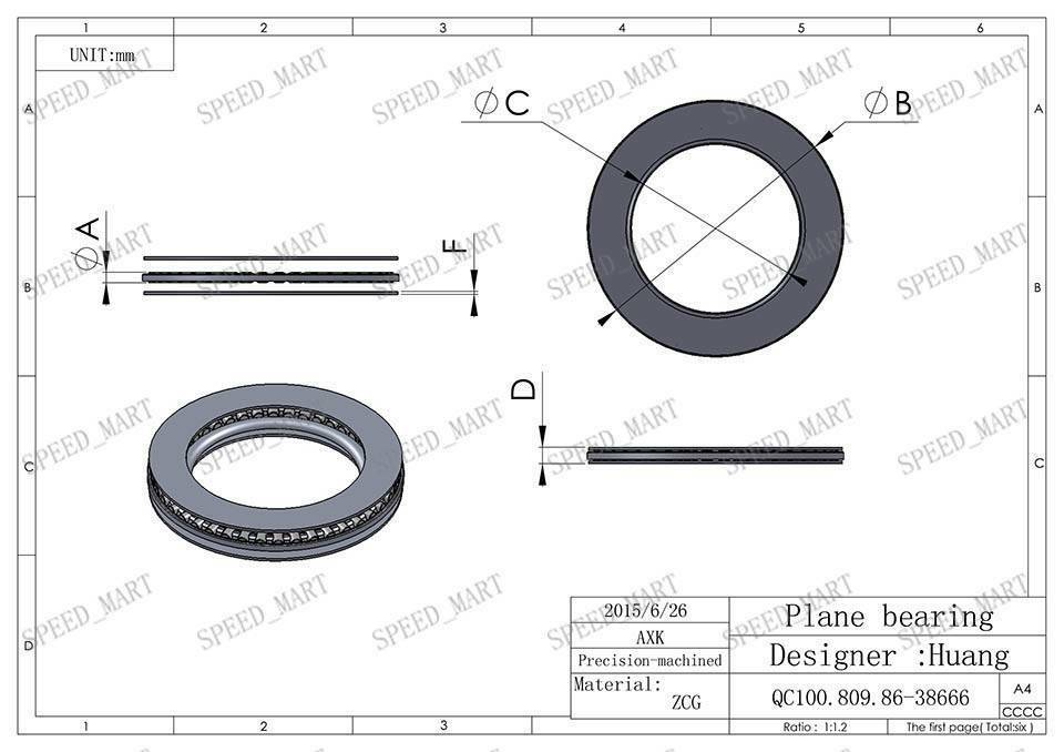 2 PCS AXK7095 Thrust Needle Roller Bearing With Two Washers 70mm x 95mm x 4mm
