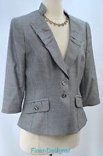 WHITE HOUSE BLACK MARKET Blazer tweedy light Jacket suit coat 3/4 sleeve 10 NEW