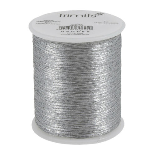 10x Embroidery Thread Metallic 180m Silver PK of 10 Sewing Craft Tool
