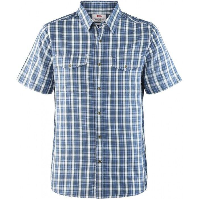 Scendendo Räven Abisko cool Shirt Ss Uomo Camicia A uomoiche Corte, Uncle blu