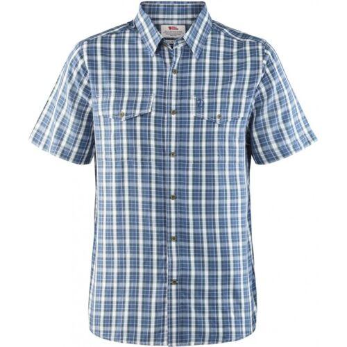 Fjäll Räven Abisko Cool Shirt SS Herren Hemd kurzarm uncle blue
