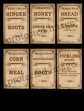 Primitive Style Spice Box or Can Labels - #FH271