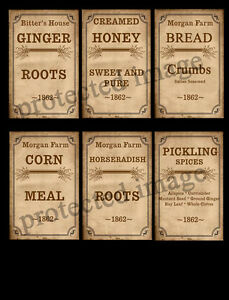 Primitive-Style-Spice-Box-or-Can-Labels-FH271