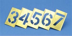 Belle Industrial Stencils Verrouillage Métal 0-9 Set 12mm-afficher Le Titre D'origine Blanc Pur Et Translucide