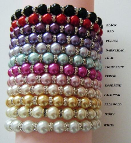 AGE NUMBER CHARM PEARL /& CRYSTAL  BRACELET IDEAL  BIRTHDAY GIFT