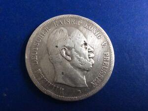 Silber Münze Fünf Mark Wilhelm Deutscher Kaiser König Von